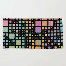Pop Squares Beach Towel