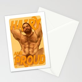 Hairy And Proud Stationery Cards