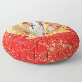 Gold Vajrayogini Red Thankga Floor Pillow