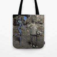 sci fi Tote Bags featuring Sci-Fi Fantasy  by gypsykissphotography