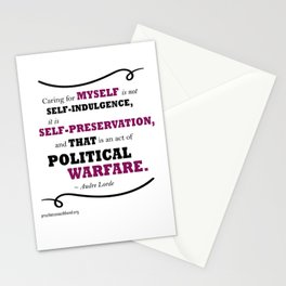 Audre Lorde: Caring for Self Stationery Cards