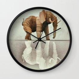 Wooden Elephant Wall Clock