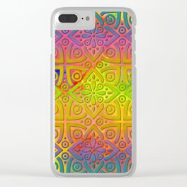 DP050-4 Colorful Moroccan pattern Clear iPhone Case