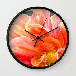 Flower Flames Wall Clock
