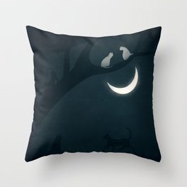 How socialisation and good experiences affect our happiness Throw Pillow