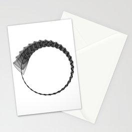 Line ZEN minimal harmony graphic white black geometry silk Stationery Cards