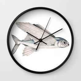 fish poisson volant Wall Clock