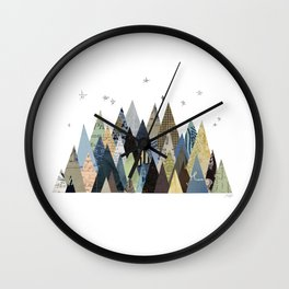 Mountain Collage Wall Clock