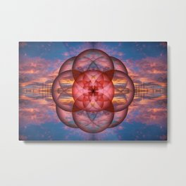 Enlightened Sunset Metal Print