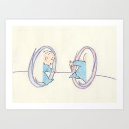 Harold and the Purple Portal Art Print