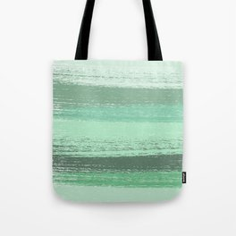 Stripey Mint Tote Bag