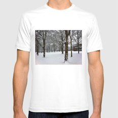 Snowy Forest  Mens Fitted Tee White MEDIUM