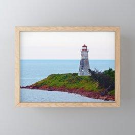 Lighthouse Cape Jourimain N-B Framed Mini Art Print