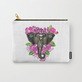 Elephants and Flowers Carry-All Pouch