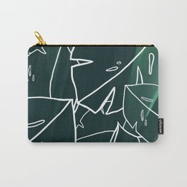 Green Monstera Leaf Carry-All Pouch