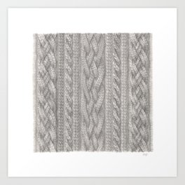 Cable Knit Art Print
