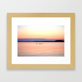 Sunset Family Framed Art Print