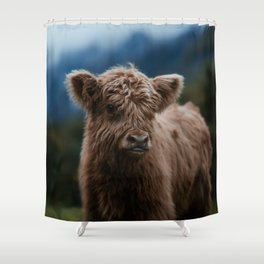 Baby Highland Cow Shower Curtain