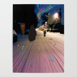 Snow Road Poster