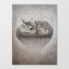 Dotty Deer Canvas Print