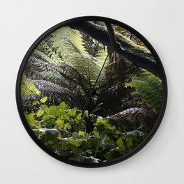 Rainforest in Cornwall Wall Clock