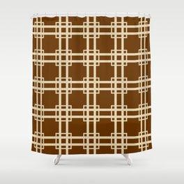 Nutmeg Spice Moods Lattice Shower Curtain