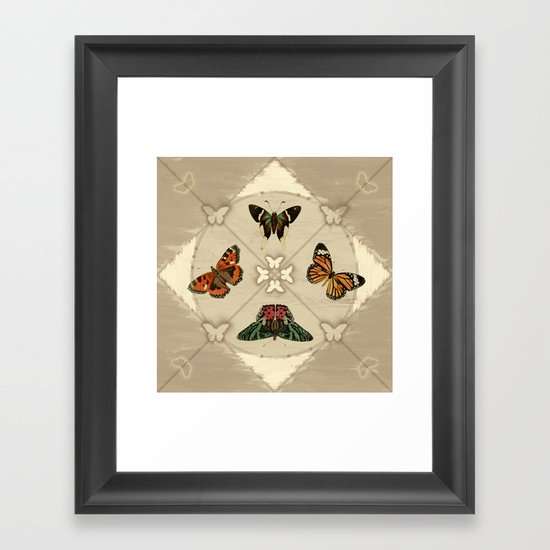 Butterfly Code Framed Art Print
