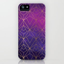 Gold and Purple Ombre Luxe iPhone Case