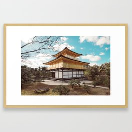 Kinkaku-ji Golden Temple Kyoto Framed Art Print