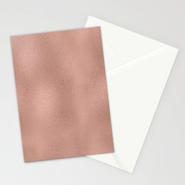 Rose-gold shimmering background Stationery Cards