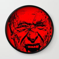 literature Wall Clocks featuring Outlaws of Literature (Charles Bukowski) by Silvio Ledbetter