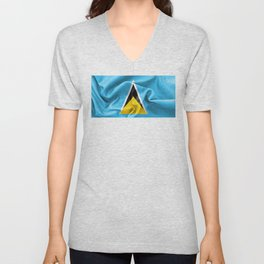 Saint Lucia Flag Unisex V-Neck