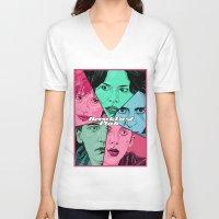 the breakfast club V-neck T-shirts featuring Breakfast Club Colors by David Amblard