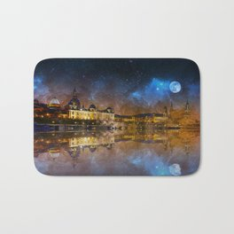 Dresden At Night Bath Mat