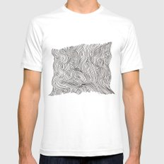 brainmap White SMALL Mens Fitted Tee