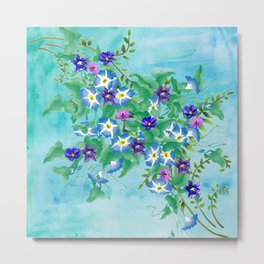 Watercolor Spring Bouquet  Metal Print