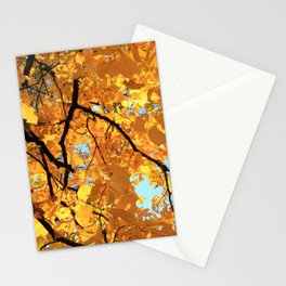 Glorious Golden Hickory Stationery Cards