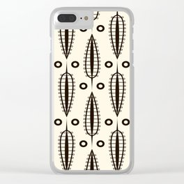"""Art Deco . """"Delicate leaves """". Clear iPhone Case"""