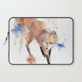 """Watercolor Painting of Picture """"Red Fox"""" Laptop Sleeve"""