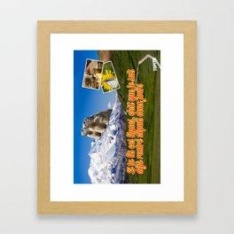 Carte Postale - Je suis déjà rentré Framed Art Print