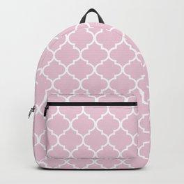 Pink quatrefoil Backpack