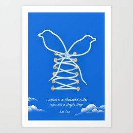 A Journey of A Thousand Miles Begins With A Single Step- Lao Tzu Quote Art Print