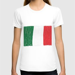 Italy flag made of doodle T-shirt