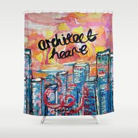 architect Shower Curtains featuring Architect Heart by Anwar B