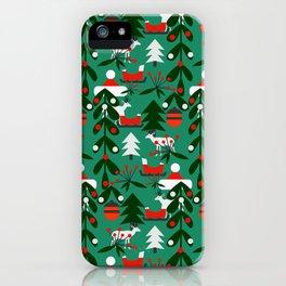 Christmas evergreens iPhone Case