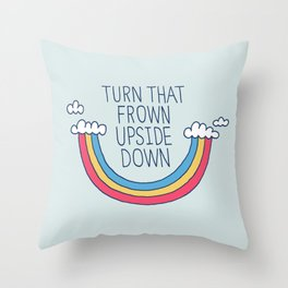 Upside Frown Throw Pillow