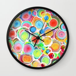 Sunshine on Your Spotty Mind (Alcohol Inks Series 07) Wall Clock