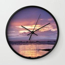 Misty Sunset Wall Clock