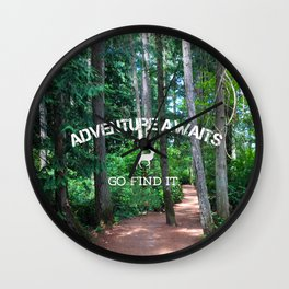 Adventure - go find it Wall Clock