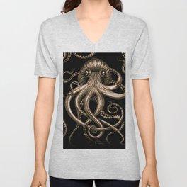 Bronze Kraken Unisex V-Neck